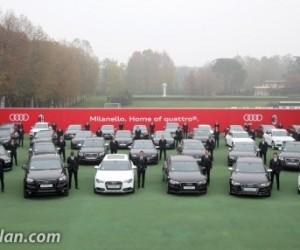 Kaka, Balotelli, Robinho, El Shaarawy… Les joueurs du Milan AC reçoivent leurs nouvelles Audi !