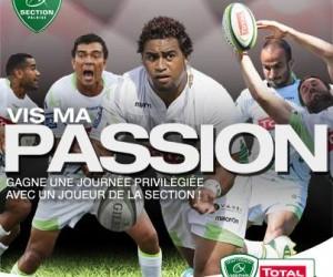 Total lance «Vis Ma Passion» avec les joueurs de la Section Paloise