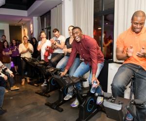Laura Flessel, Lucie Décosse, Luc Abalo, Alexis Vastine… testent le nouveau vélo d'appart 2.0 KETTLER Racer S