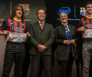 Intel nouveau sponsor à l'intérieur du maillot du FC Barcelone !