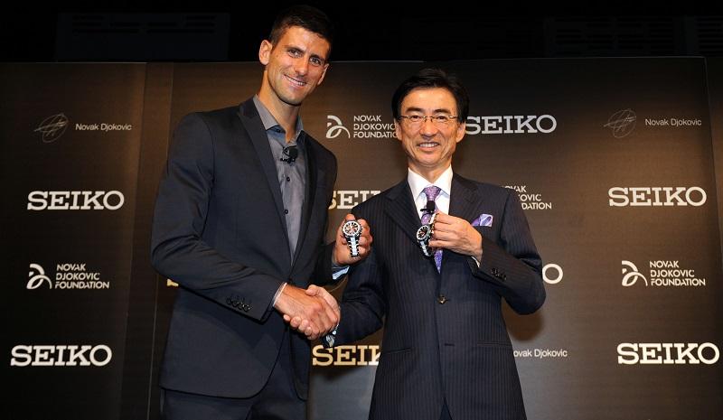 Novak djokovic seiko sponsoring tennis