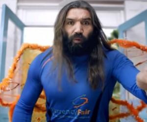 Sébastien Chabal déguisé en «fée clochette» dans une publicité pour CurrencyFair !