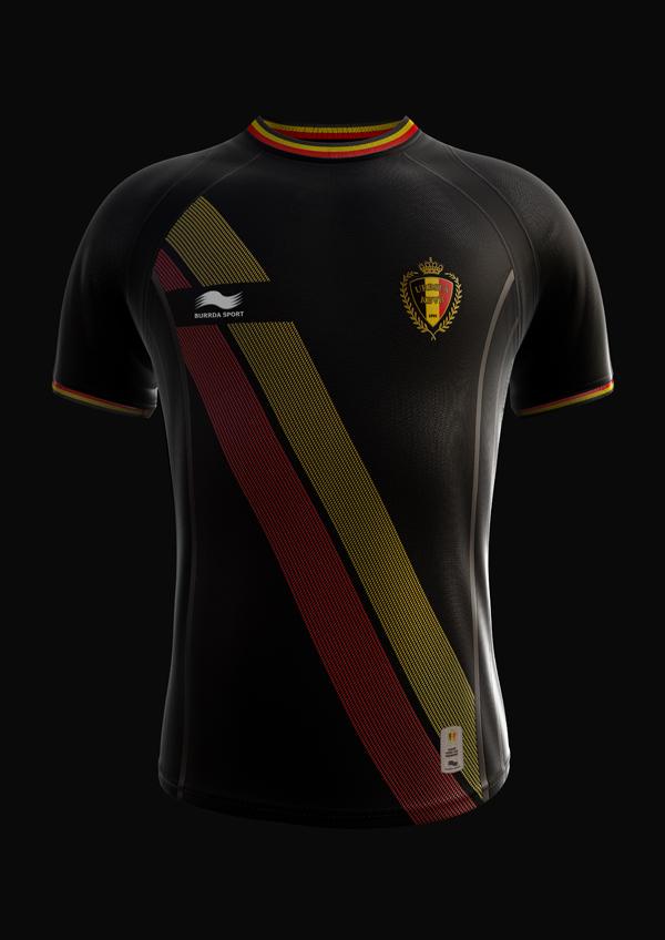 Coupe du monde 2014 nouveaux maillots de la belgique burrda sport - Maillot coupe du monde 2014 ...