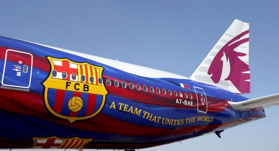 Boeing 777 Qatar Airways FC Barcelona