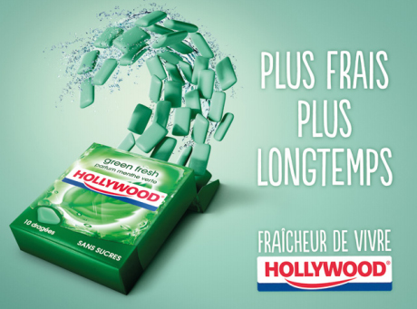 Hollywood Chewing Gum Mexican Wave Green Fresh Jeune De Ans Se Charge
