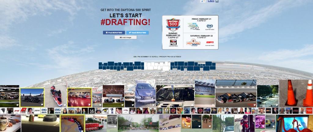 NASCAR SOCIAL MEDIA #drafting