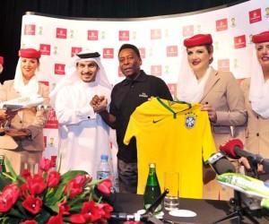 Pelé, ambassadeur mondial d'Emirates