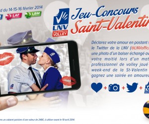La Ligue Nationale de Volley lance un concours «selfie» de baisers pour la Saint-Valentin