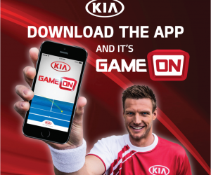 Open Australie 2014 – Kia met en scène le recordman du service le plus puissant via un dispositif interactif