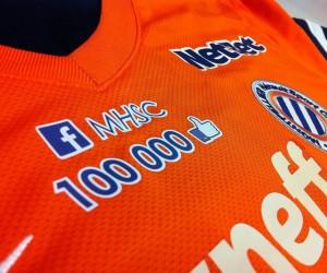 Ligue 1 : 100 000 «Likes» Facebook sur le maillot de Montpellier contre Nice