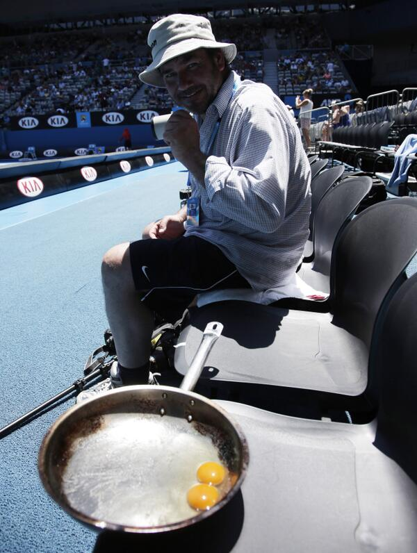 oeufs au plat open australie 2014 tennis photographe
