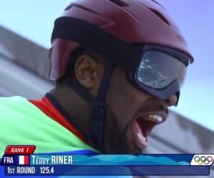 Teddy Riner réalise son saut à ski aux JO de Sochi depuis le grand tremplin de RusSki Gorki (vidéo sponsorisée)