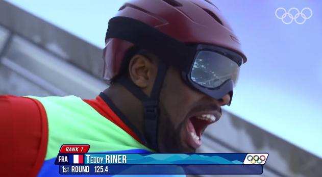 teddy riner saut à ski sochi 2014 powerade