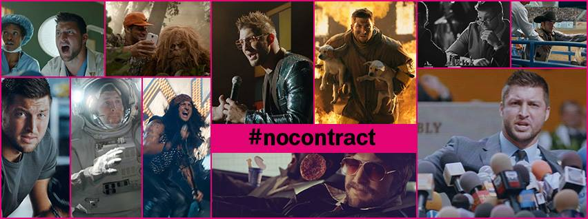 tim tebow t-mobile super bowl 2014 commercial #nocontract nfl