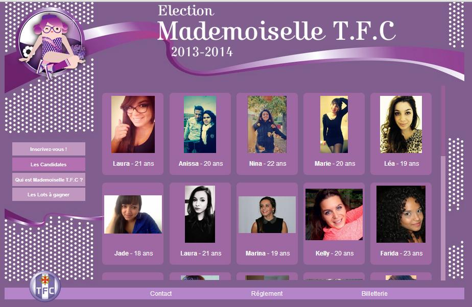élection mademoiselle TFC toulouse Football club miss