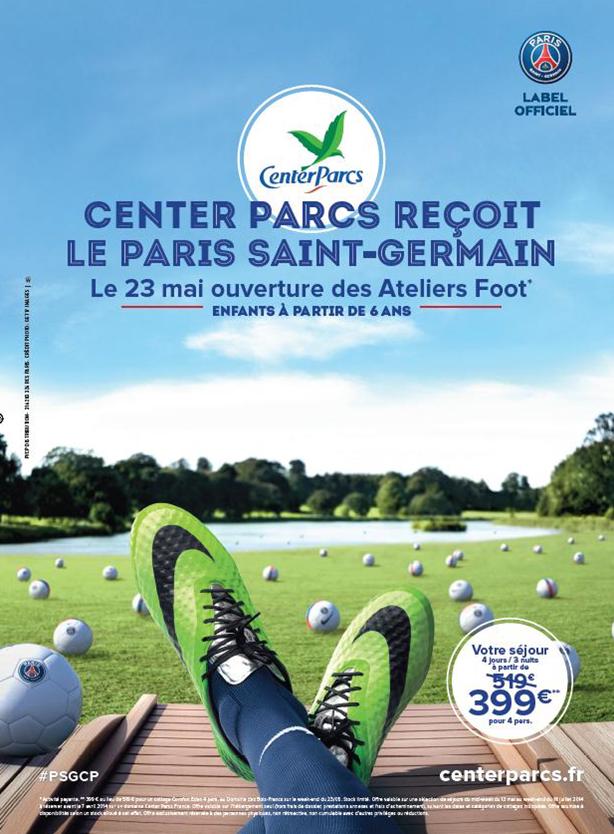 Center Parcs PSG paris saint-germain ateliers foot
