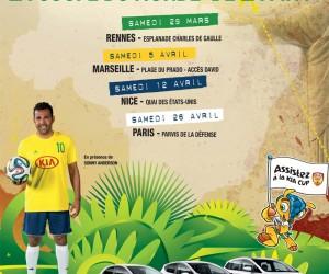 Kia et Sonny Anderson vont nous faire danser la Samba avec «le Kia Brazil Tour»