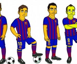 Le FC Barcelone s'associe aux Simpsons