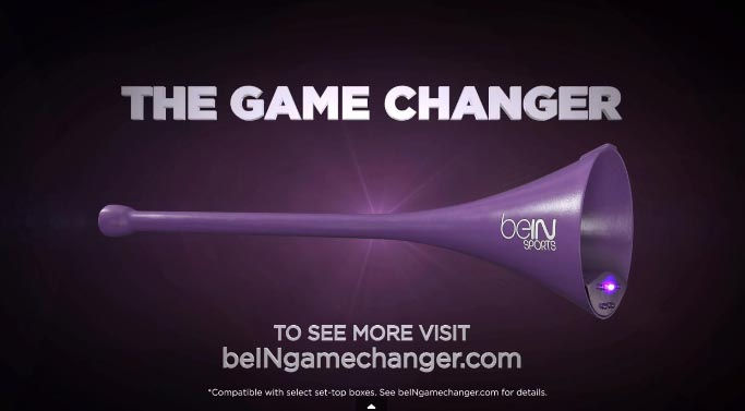 bein sports vuvuzela télécommande the game changer