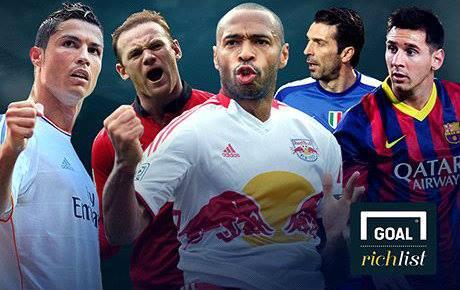 Top 10 Des Footballeurs Les Plus Riches Goal Rich List 2014