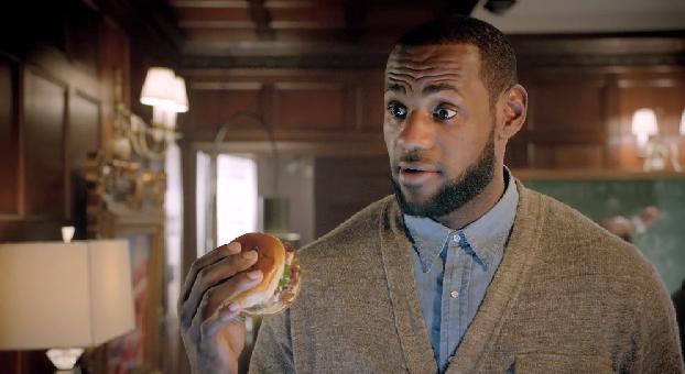 lebron james mcdonald's bacon clubhouse sandwich burger commercial