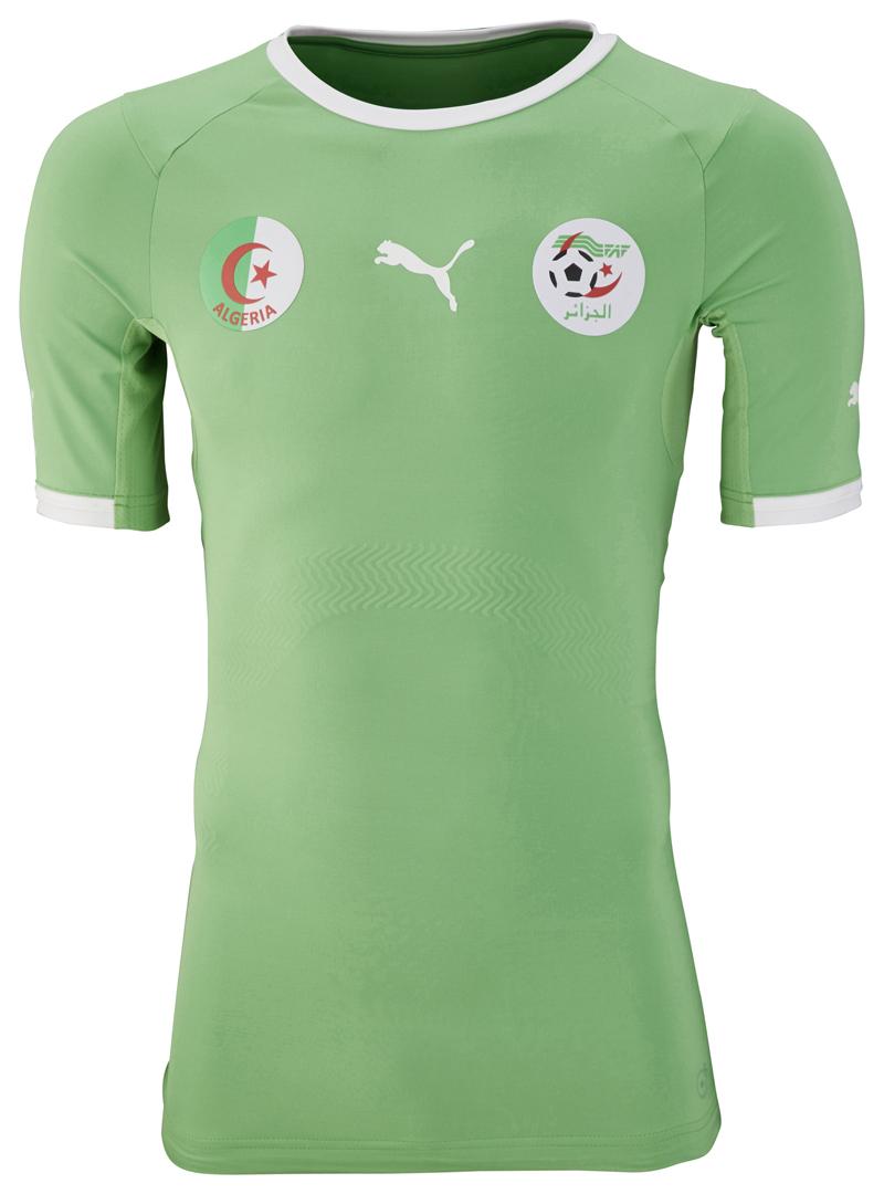 Coupe du monde 2014 nouveaux maillots de l 39 alg rie puma - Maillot coupe du monde 2014 ...