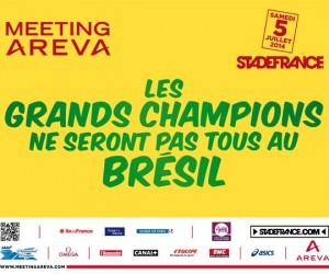 Meeting Areva 2014 – «Les Grands Champions ne seront pas tous au Brésil»