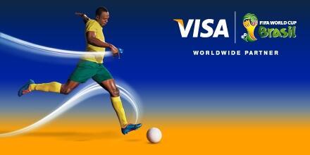 visa usain bolt brazil fifa world cup 2014