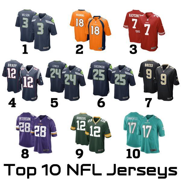 NFL top jerseys