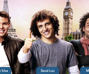 Thiago Silva, Marcelo et David Luiz dans la nouvelle publicité de la compagnie aérienne TAM