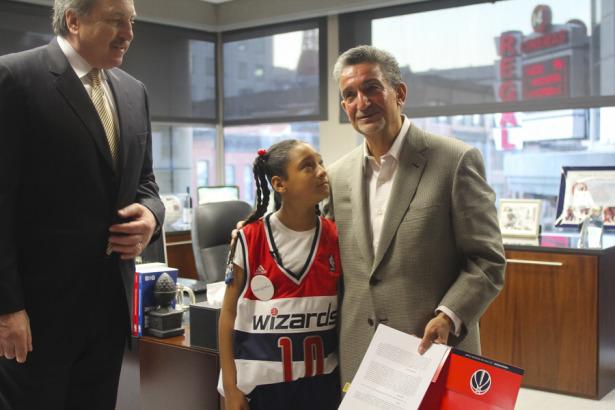 amarys jackson washington wizards NBA fan one day contract tumor