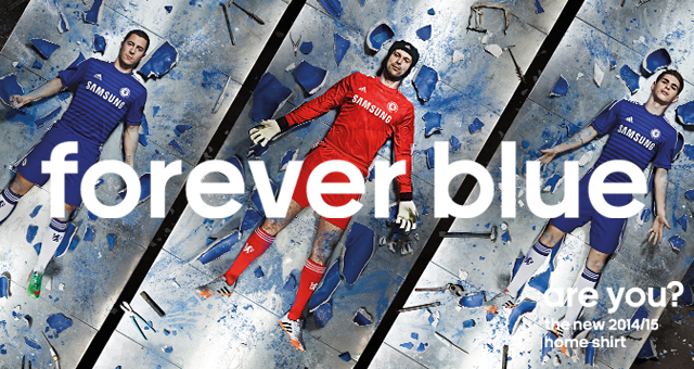 chelsea fc home kit 2014 2015 adidas forever blue