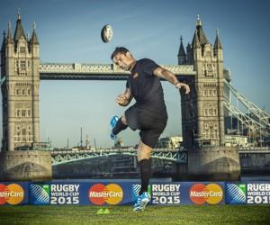 Dan Carter donne le coup d'envoi du partenariat entre MasterCard et la Coupe du Monde de Rugby 2015