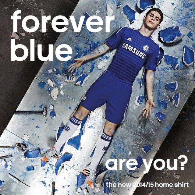 forever blue home kit chelsea 14 15 adidas