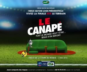 Le Canapé PMU de retour sur la pelouse du Stade de France pour la Finale de la Coupe de France de Football