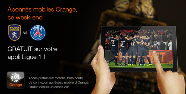 bon plan les matchs de ligue 1 gratuits ce week end sur votre mobile et tablette avec l 39 appli. Black Bedroom Furniture Sets. Home Design Ideas