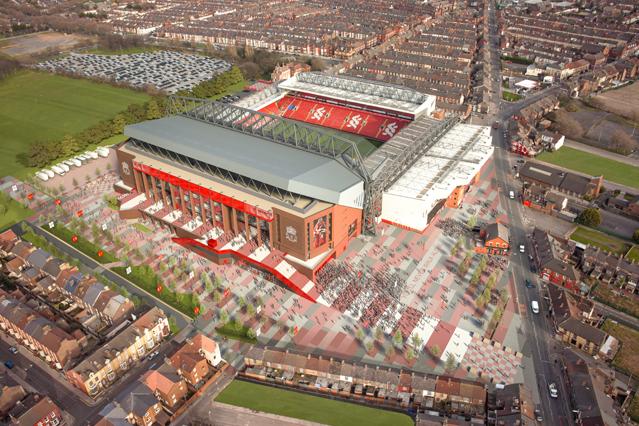 projet rénovation anfield road 54 000 seats