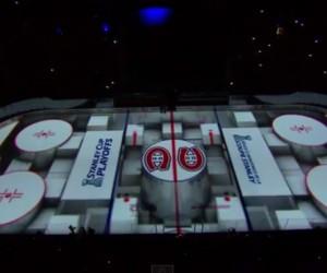 NHL – Show 3D incroyable avant un match des Canadiens de Montréal au Centre Bell