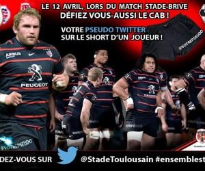 Le Stade Toulousain va afficher 23 comptes Twitter de Fans sur le short de ses joueurs contre Brive