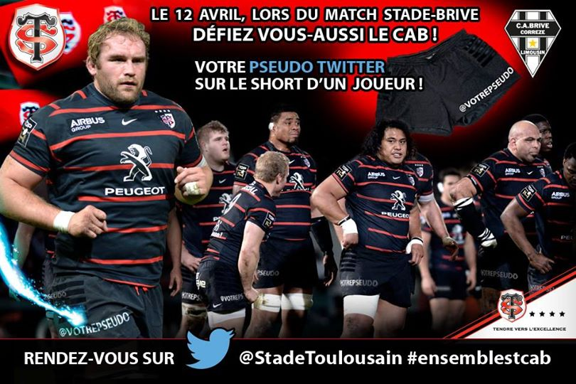 stade toulousain compte twitter supporters short joueurs