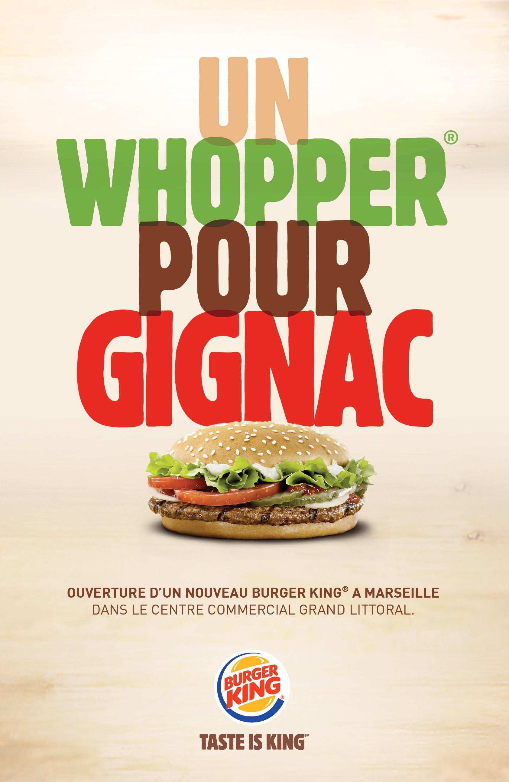Burger king chambre gignac un whopper pour gignac for Centre commercial grand tour sainte eulalie