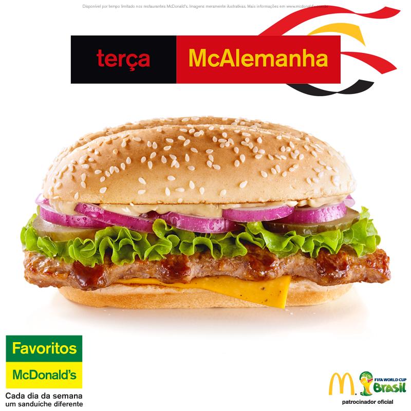 Burger Mcalemanha  McDonald's - Coupe du Monde 2014 (allemagne)