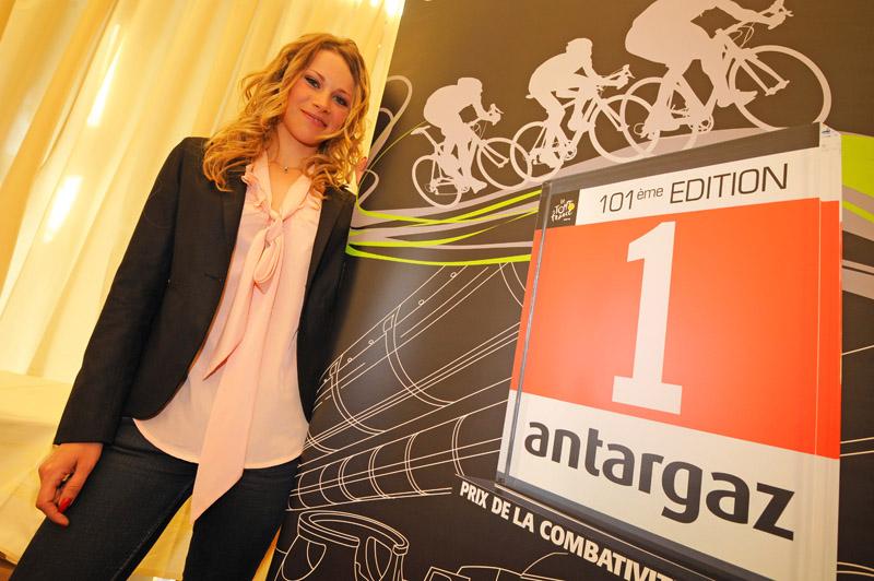 Marion Rousse prix de la combativité Tour de france antargaz