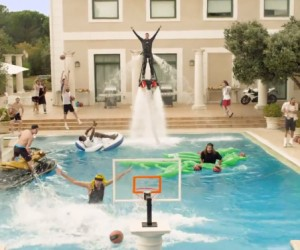 Turkish Airlines Euroleague Epic Pool Dunk !