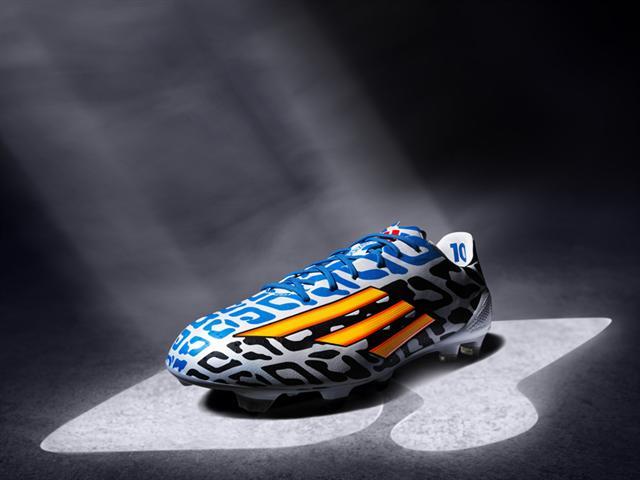 adidas f50 messi black white blue fifa world cup 2014