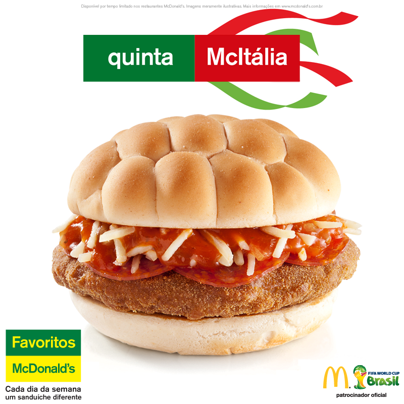 burger mcitalia mcdonald's coupe du monde 2014 italie