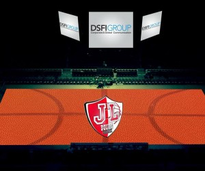 First Basket 3D video mapping show à la JL Bourg Basket (Pro B), une première dans le basket européen