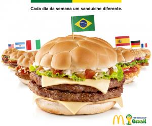France, Italie, Brésil, Espagne… McDonald's dévoile 7 burgers pour la Coupe du Monde 2014 au Brésil