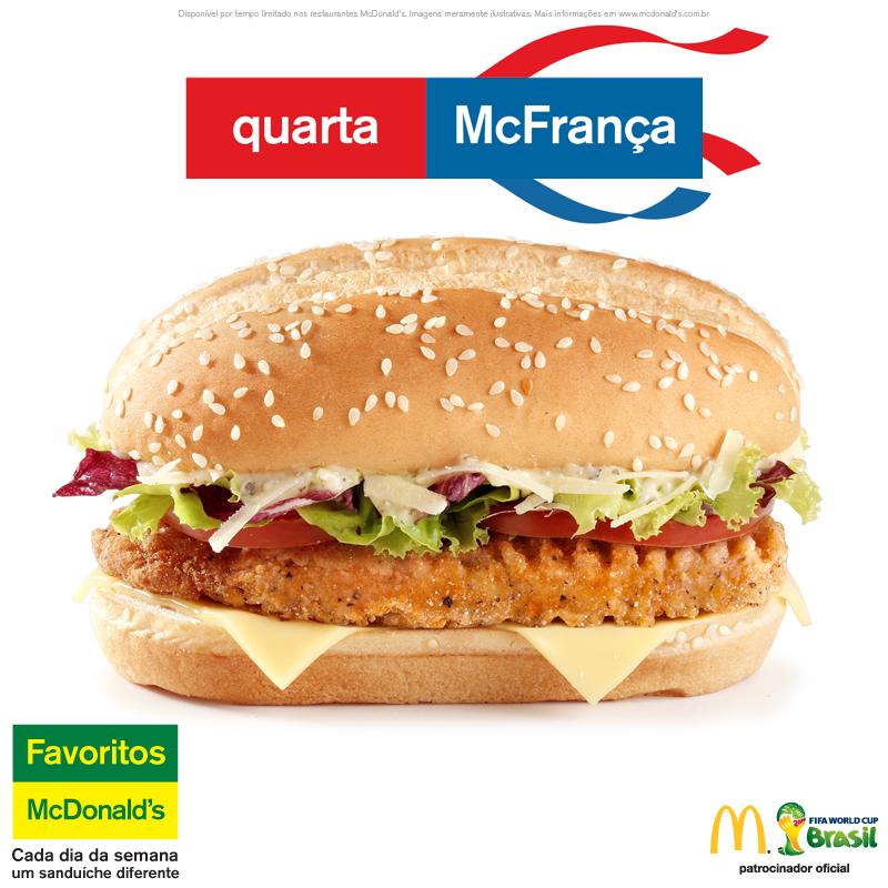 mcfrança mcdonald's burger france coupe du monde 2014