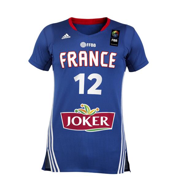 nouveau maillot équipe de france basket manches adidas (sleeves) FFBB